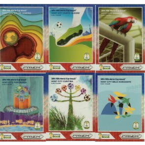 2014 Panini Prizm Fifa World Cup Host Cities Manaus Blue Red Wave