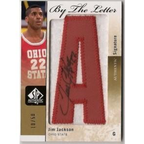 2011-12 Upper Deck SP Authentic Jim Jackson By the Letter Autograph Patch 10/50
