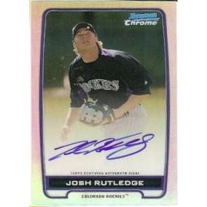 2012 Bowman Chrome Josh Rutledge Refractor Autograph 206/500