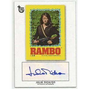 2013 Topps 75th Anniversary Julia Nickson Autograph