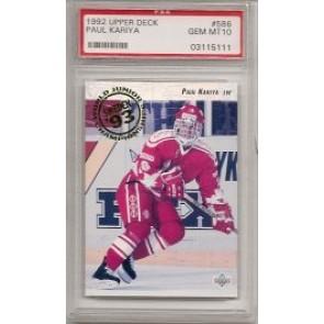 1992-93 Upper Deck Paul Kariya Rookie PSA Graded Gem Mint 10