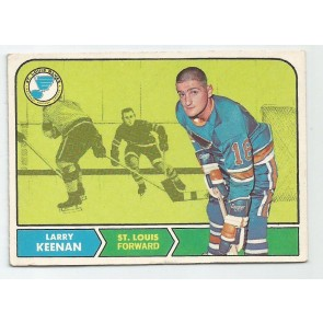 1968-69 O-Pee-Chee Set Break  Card #115  LARRY KEENAN  St. Louis