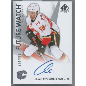 2016-17 SP AUTHENTIC  OLIVER KYLINGTON  FUTURE WATCH AUTOGRAPH RC  SERIAL NUMBERED 874/999