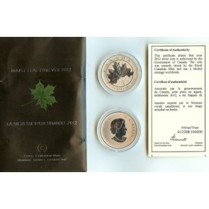 2012 Canadian Mint Limited Edition Maple Leaf SILVER .999 Coin $10