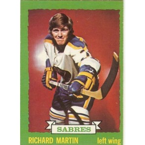 1973-74 O-Pee-Chee Card #173 RICHARD MARTIN SABRES NM