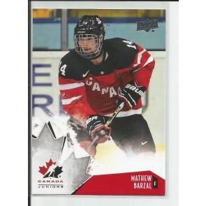 2015-16 Upper Deck Canada juniors Mathew Barzal #93