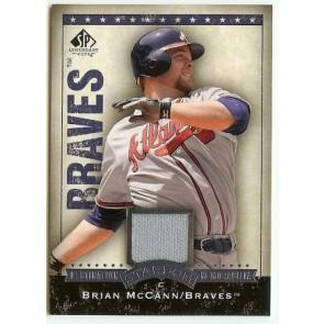 2008 SP Legendary Cuts Brian McCann Destination Stardom Memorabilia