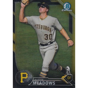 2016 Bowman Chrome Austin Meadows Prospects Black and Gold Refractor #BCP250 Pirates