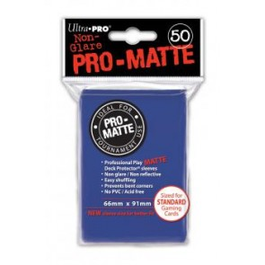 Ultra Pro Deck Protectors Matte Non Glare Blue (3 Lot)