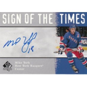 2000-01 Upper Deck SP Authentic Mike York Sign of the Times