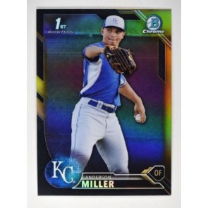 2016 Bowman Chrome Anderson Miller Prospects Black and Gold Refractor #BCP184