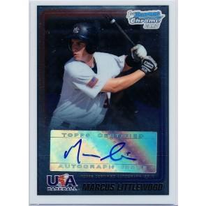 2010 Bowman Chrome MARCUS LITTLEWOOD USA Baseball #ML AUTO Rookie Card RC