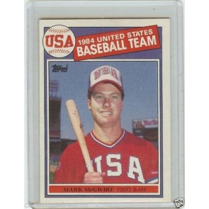 1985 TOPPS MARK MCGWIRE OLYMPIC ROOKIE CARD #401 USA RC