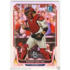 2014 Bowman Chrome #60 YADIER MOLINA Cardinals Refractor #'d 460/500