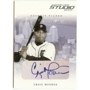2005 Donruss Studio Craig Monroe Autograph