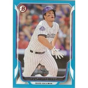 2014 Bowman Blue Baseball #20 Nolan Arenado 056/500 Colorado Rockies