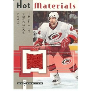 2005-06 Fleer Hot Prospects Niklas Nordgren Hot Materials Game Jersey
