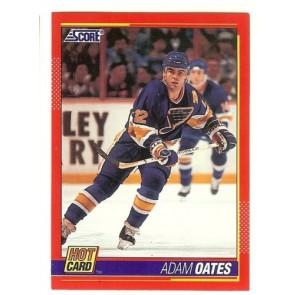 """1991-92 Score ADAM OATES 'Hot Card"""" Insert # 6 of 10 St. Louis Blues"""