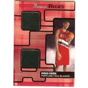 2007-08 Bowman Draft Picks & Stars Greg Oden Bowman Relics 088/199
