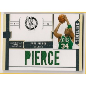 2010-11 Panini National Treasures Paul Pierce Timeline Jerseys 68/99