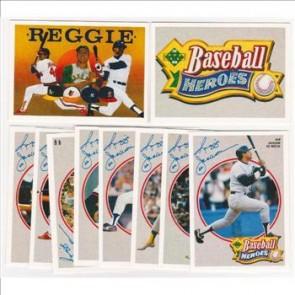 1990 Upper Deck Reggie Jackson Baseball Heroes Set Complete with Header