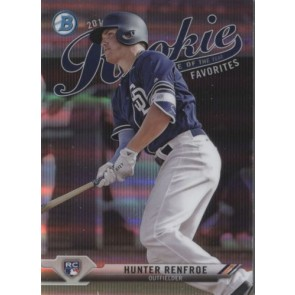 2017 Bowman Chrome HUNTER RENFROE ROOKIE OF THE YEAR FAVORITES Insert ROY PADRES