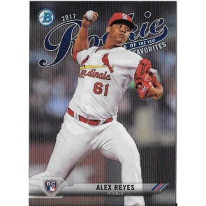2017 Bowman ALEX REYES ROOKIE OF THE YEAR FAVORITES Chrome Insert ROY CARDINALS