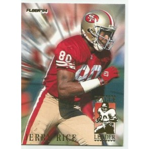1994 Fleer League Leaders #5 Jerry Rice Card 49ers