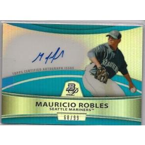 2010 Bowman Platinum Mauricio Robles Autograph Blue Refractor 68/99
