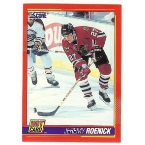 """1991-92 Score JEREMY ROENICK 'Hot Card"""" Insert # 10 of 10 BLACK HAWKS"""