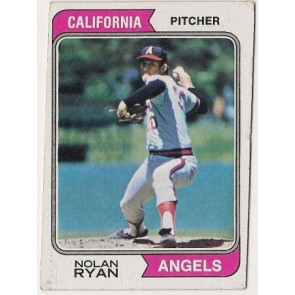 1974 Topps Nolan Ryan Single Condition Good