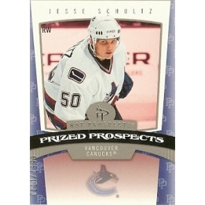 2006-07 Fleer Hot Prospects Jesse Schultz Prized Prospects Rookie 0110/1999