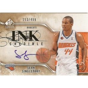 2009-10 Upper Deck SP Signatures Sean Singletary Ink Credible Autograph 153/499