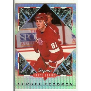 1993-94 Donruss Elite Series Sergei Fedorov #'d /10000 Detroit Red Wings Card #2