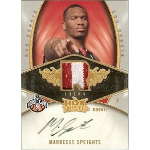 2008-09 Fleer Hot Prospects Marreese Speights Autograph Rookie Patch 2 color 147/399