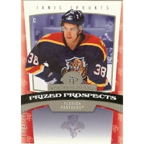 2006-07 Fleer Hot Prospects Janis Sprukts Prized Prospects Rookie 1104/1999