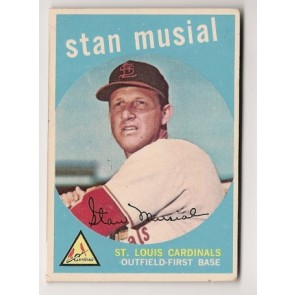 1959 Topps Stan Musial Single Condition Good Crease