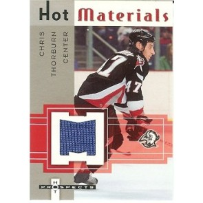 2005-06 Fleer Hot Prospects Chris Thorburn Hot Materials Game Worn Jersey