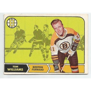 1968-69 O-Pee-Chee OPC Set Break Card #11 TOM WILLIAMS Boston Bruins