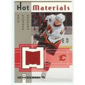 2005-06 Fleer Hot Prospects Dion Phaneuf Hot Materials Game Jersey