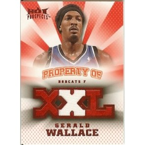 2008-09 Fleer Hot Prospects Gerald Wallace Property of Jersey 02/25