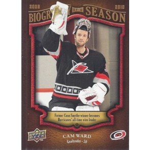 2009-10 Upper Deck Biography of a Season Cam Ward Card# BOS-21