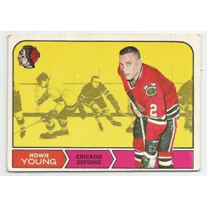 1968-69 O-Pee-Chee  Card #82  HOWIE YOUNG  Black Hawks