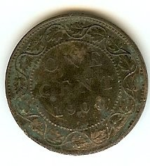 1900 H Canadian Large Penny Queen Victoria Bronze One Cent Coin Collectors Dreams