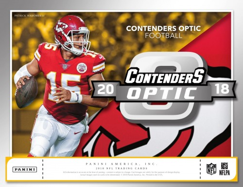 2018 Panini Contenders Optic Football Hobby Box