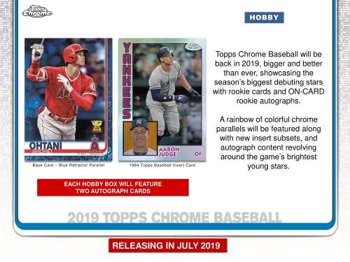 2019 Topps Chrome Baseball Hobby Box Factory Sealed -  PREORDER
