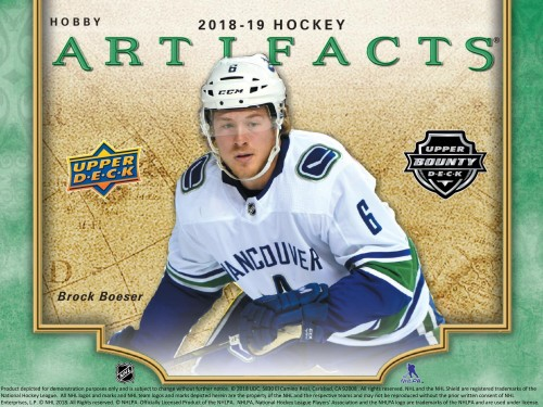 2018-19 Upper Deck Artifacts Hobby Box - AVAILABLE IN STORE ONLY