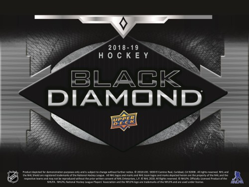 2018-19 Upper Deck Black Diamond Hockey Hobby Box - AVAILABLE IN STORE ONLY