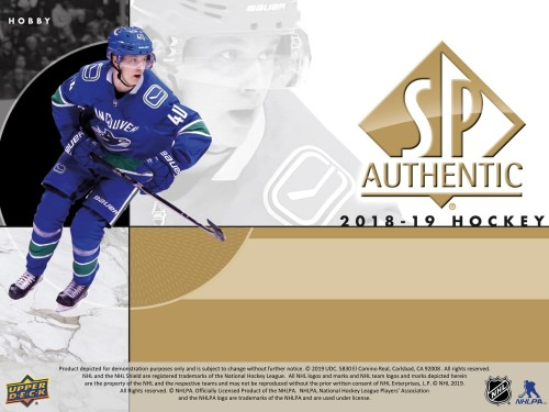 2018-19 SP Authentic Hockey Box - PREORDER AVAILABLE IN STORE ONLY