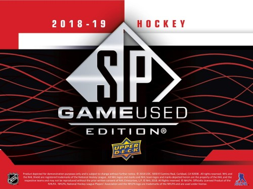 2018-19 UPPER DECK SP GAME USED Hobby Box - AVAILABLE IN STORE ONLY